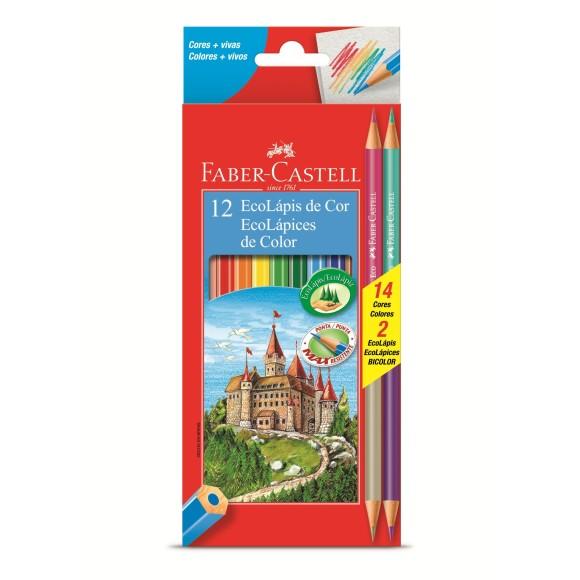 Lápis de Cor 12 cores + 2 Bicolor 120112/2b