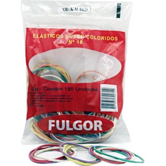ELÁSTICO COLORIDO FULGOR Nº18 100G