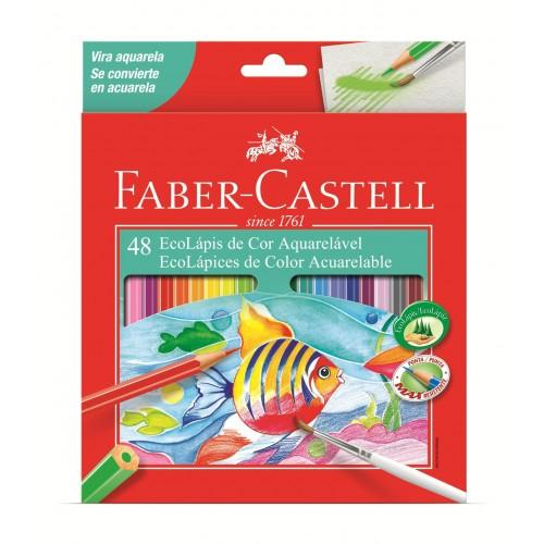 Lápis de Cor Aquarelável  48 Cores Faber-Castell 120248