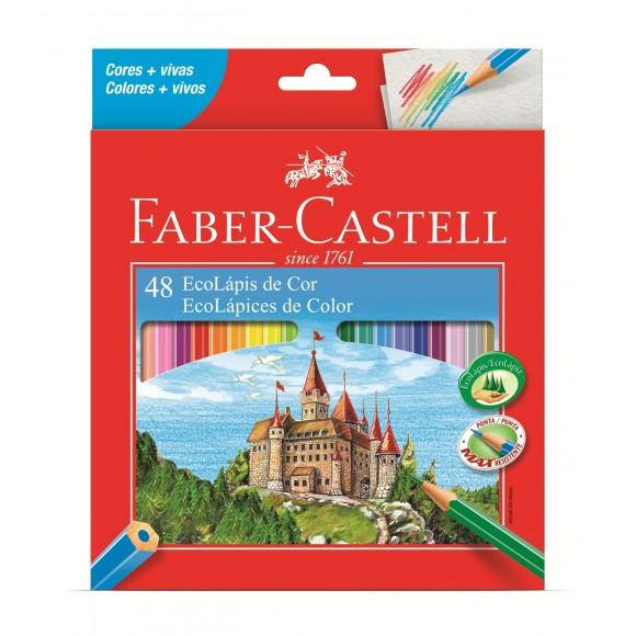 Lápis De Cor Ecolápis 48 Cores Faber Castell 120148