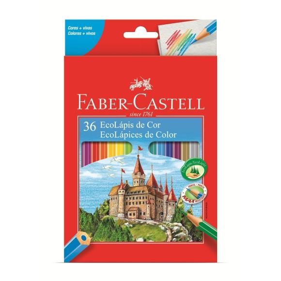 Lápis de Cor 36 Cores EcoLápis Sextavado Faber Castell 120136