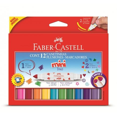 Canetinha Hidrográfica 2 Pontas Super E Carimbo Faber Castell - Duo150612