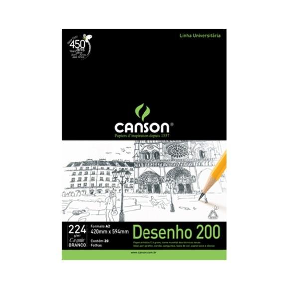 BLOCO A2 CANSON DESENHO 200GR
