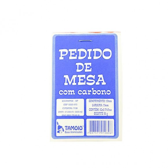 PEDIDO DE MESA C/CARBONO 50X2 REF.1080 TAMOIO