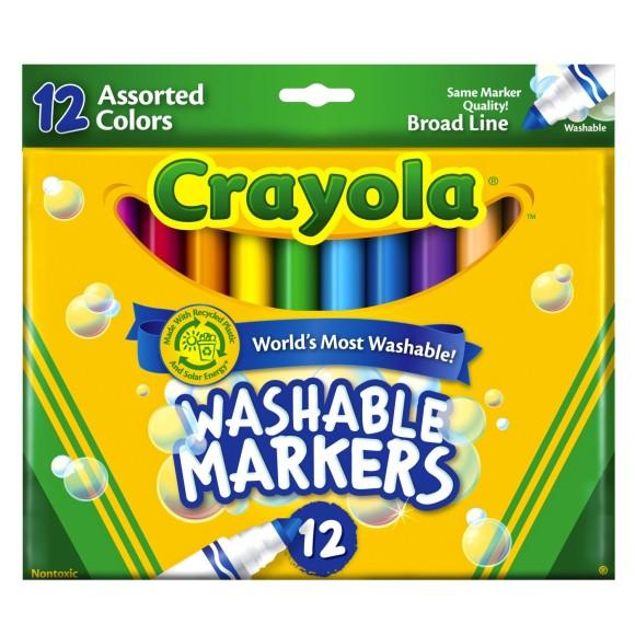 Canetinhas Ponta Grossa Lavável 12 Cores - Crayola