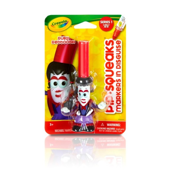 Canetinha Lavável pipsqueaks Ruby Redtooth Vampira- Crayola