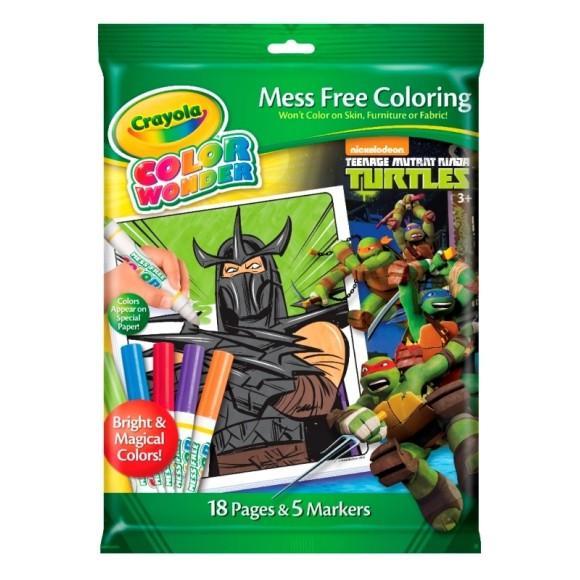 Livro Para Colorir Color Wonder Tartarugas Ninja - Crayola