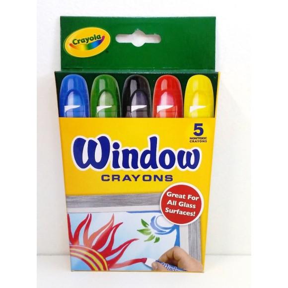 Giz de Cera Crayola para Vidro 52-9765 - 5 Cores