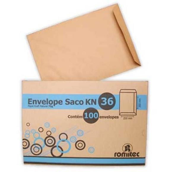 ENVELOPE SACO KRAFT 250X353 CX C/100 ROMITEC