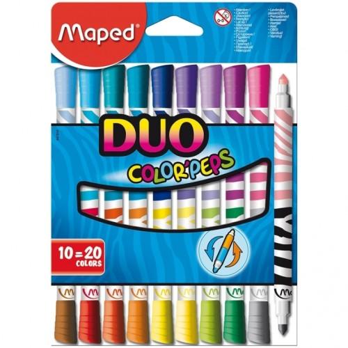 Caneta Duo Color Peps c/ 10 Unidades 20 Cores Maped