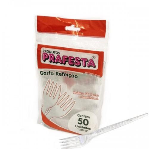 GARFO PLASTICO SOBREMESA C/50 BCO - REGINA