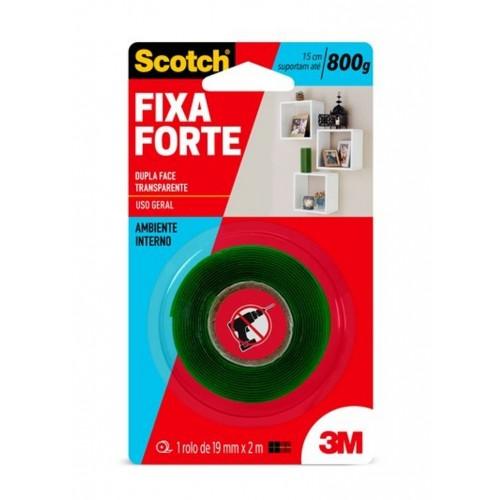 Fita Scotch Fixa Forte Transparente 1,9 Cm X 2M