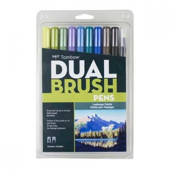 MARCADOR PINCEL DUAL BRUSH 10 CORES TOMBOW
