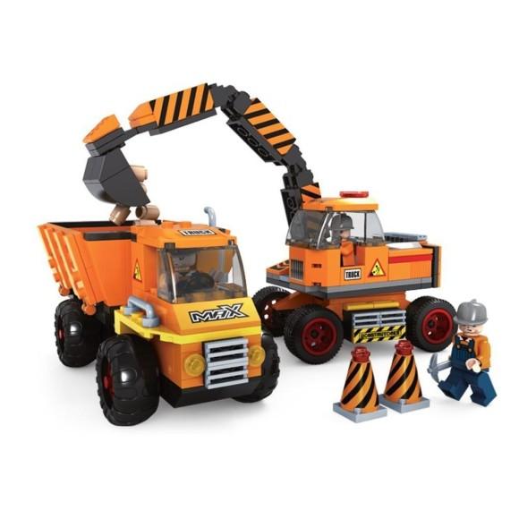 Brinquedo Construtores -Escavadeira Para Montar Com 317 Pcs