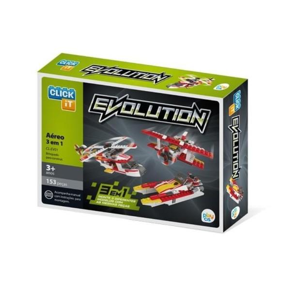 BRINQUEDO EVOLUTION AREO C/.153 PEÇAS - PLAY CIS