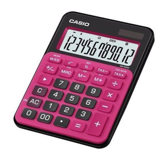 Calculadora Portátil Casio Ms-20nc-Brd Vermelha