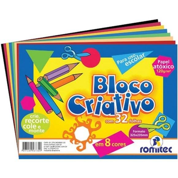 BLOCO CRIATIVO 325x235mm 32f 120g 6734 ROMITEC
