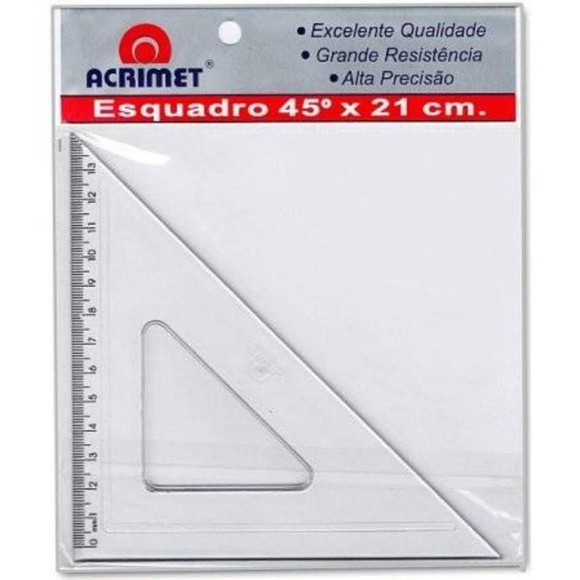 ESQUADRO 45°X 21CM REF.532 ACRIMET