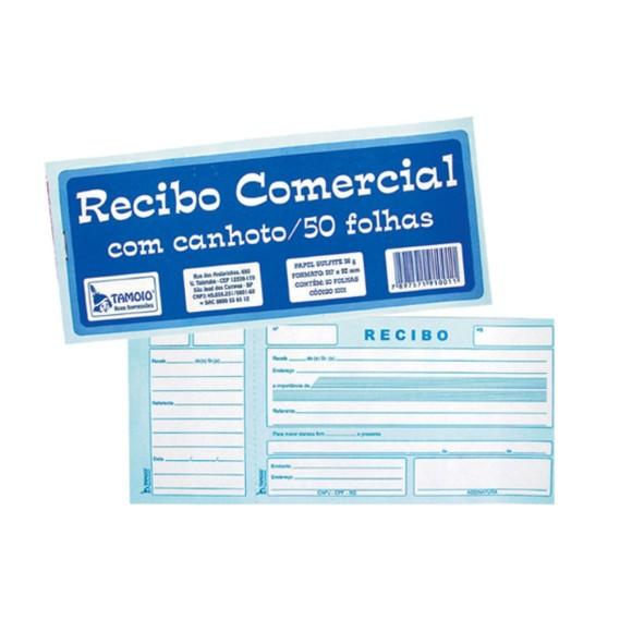 RECIBO C/CANHOTO 50FLS REF.1001 TAMOIO