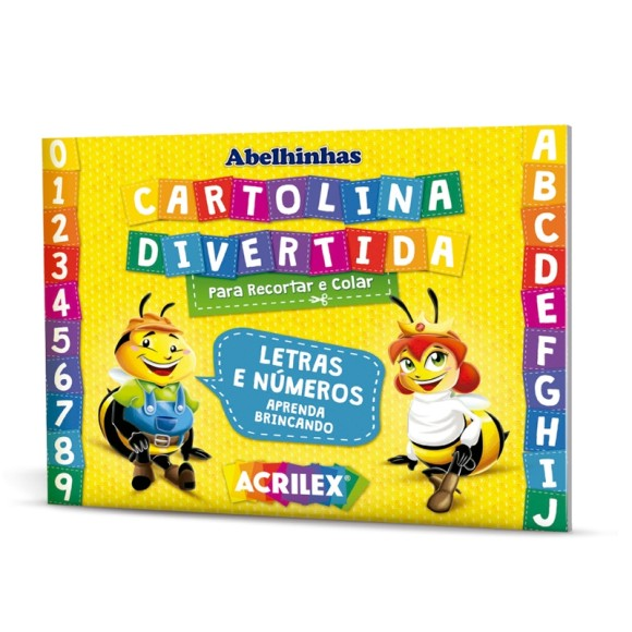 CARTOLINA DIVERTIDA  P/RECORTAR E COLAR ACRILEX REF-40013