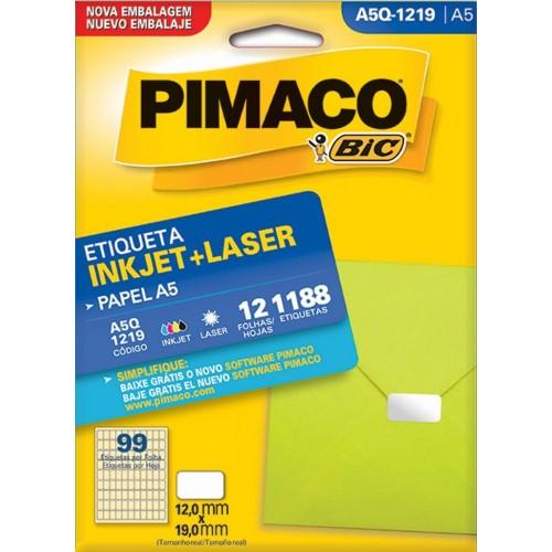 ETIQUETA INKJET + LASER A5Q-1219 PIMACO