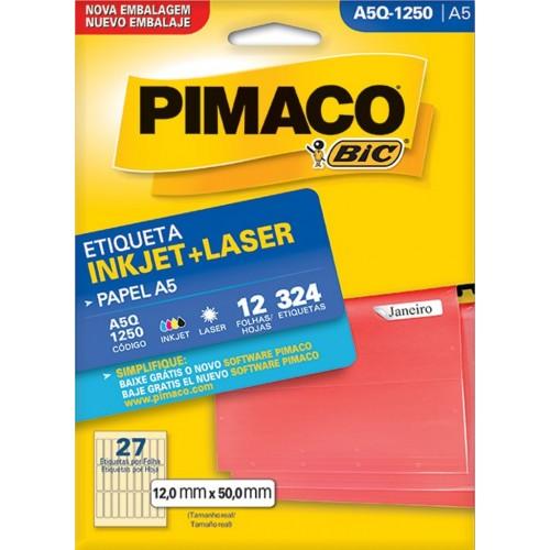 ETIQUETA INKJET + LASER A5Q-1250 PIMACO