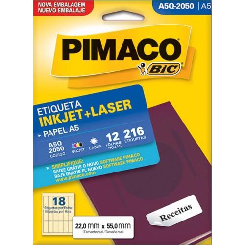 ETIQUETA INKJET + LASER A5Q-2050 PIMACO