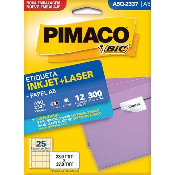 ETIQUETA INKJET + LASER A5Q-2337 PIMACO