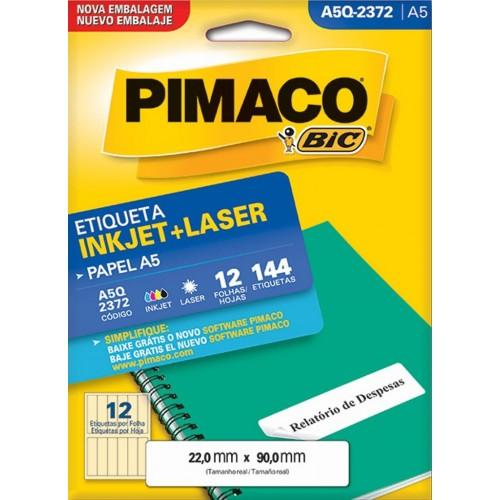 ETIQUETA INKJET + LASER A5Q-2372 PIMACO