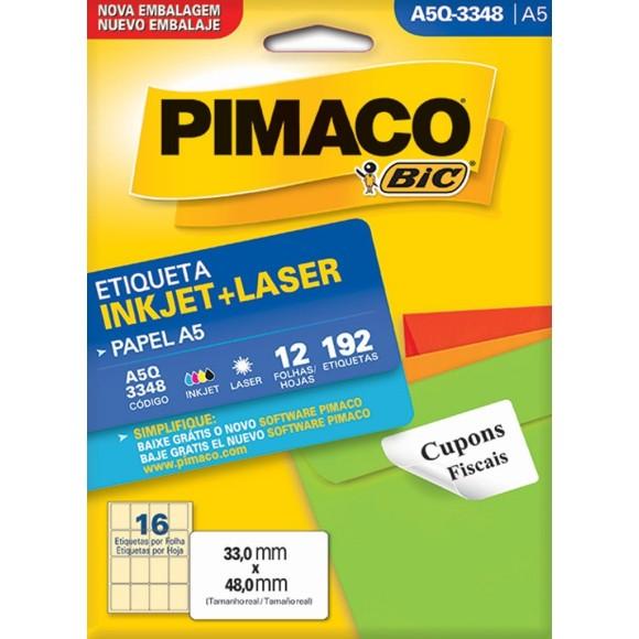 ETIQUETA INKJET + LASER A5Q-3348 PIMACO