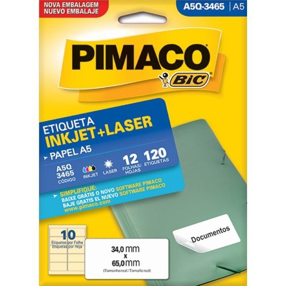 ETIQUETA INKJET + LASER A5Q-3465 PIMACO