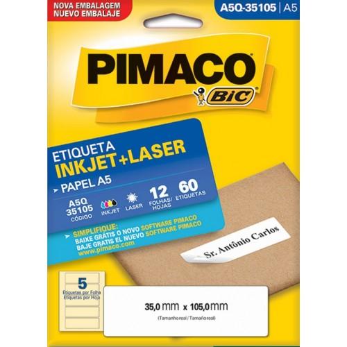 ETIQUETA INKJET + LASER A5Q-35105 PIMACO