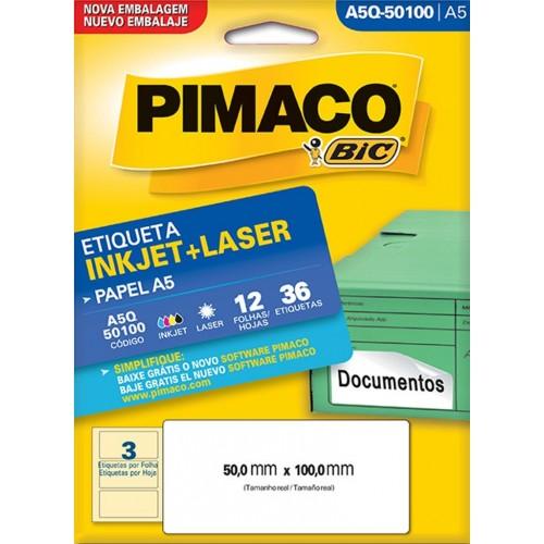 ETIQUETA INKJET + LASER A5Q-50100 PIMACO