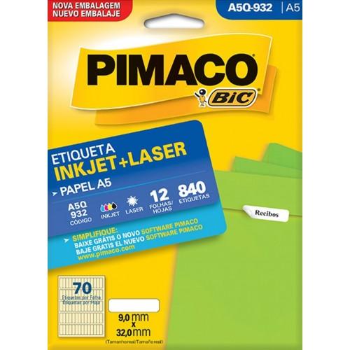 ETIQUETA INKJET + LASER A5Q-932 PIMACO