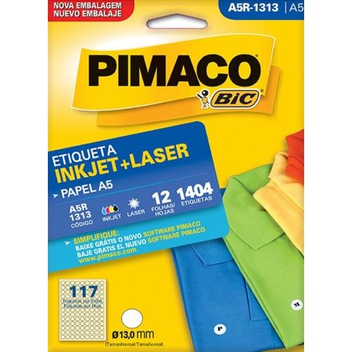 ETIQUETA INKJET + LASER A5R-1313 PIMACO