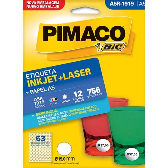 ETIQUETA INKJET + LASER A5R-1919 PIMACO
