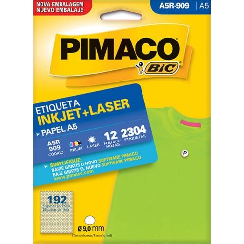ETIQUETA INKJET + LASER A5R-909 PIMACO