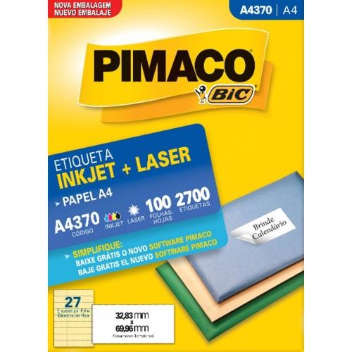 ETIQUETA INKJET + LASER A4370 PIMACO