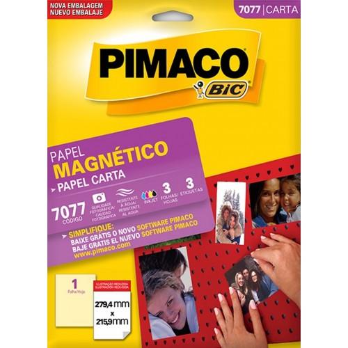 ETIQUETA INKJET + LASER MAGNÉTICA 7077 PIMACO