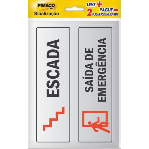 PLACAS PARA SINALIZAÇÃO (6,5x20 cm) PIMACO